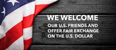 We welcome our US friends, get a fair exchange on the dollar.
