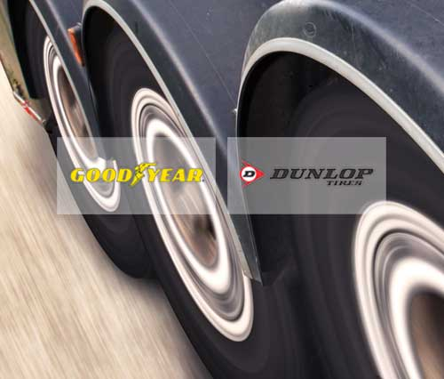 Commercial Tires, Goodyear, Dunlop